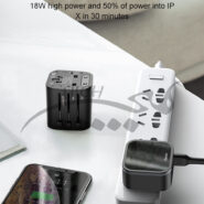 مبدل برق همه کاره Baseus Removable 2 in 1 Universal Travel Adapter PPS Quick Charger Edition TZPPS-01