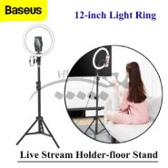 رینگ لایت سلفی Baseus Photo Ring Flash Fill Light LED Lamp for Smartphone CRZB12-B01