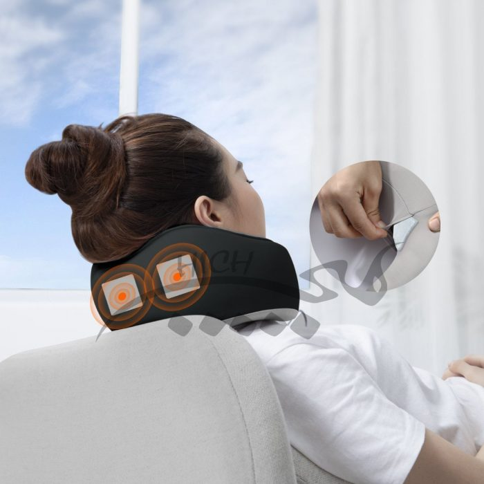 بالش گردن بیسوس Baseus Thermal Series Memory Foam Neck Pillow FMTZ-0G همراه با پدهای حرارتی