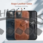 قاب چرمی نیلکین آیفون Apple iPhone 12 / 12 Pro Nillkin Aoge Leather Cover Case